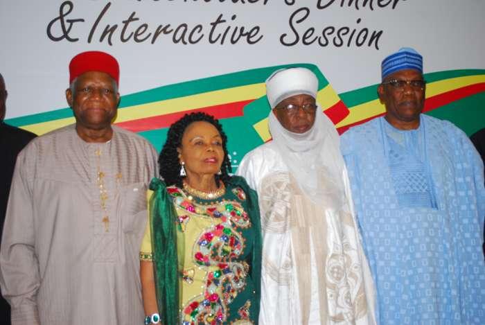 Gen. Ike Nwachukwu,Chief (Mrs) Opral Benson,Alhaji Muazu Abubakar and Chief Kenny Martins