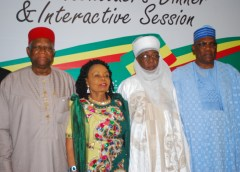 Gen. Ike Nwachukwu,Chief (Mrs) Opral Benson,Alhaji Muazu Abubakar and Chief Kenny Martins