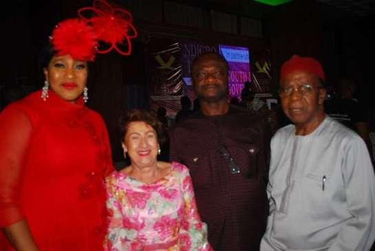 Mrs. Ngozi Ekeoma,Mrs. katia Ekesi,Chief James Uduji and Chief Cyprian Nwuba
