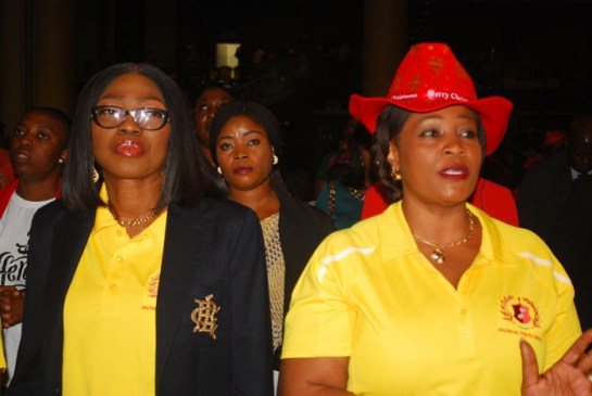 Mrs. Bolanle Ambode and Mrs Oluremi Hamsat