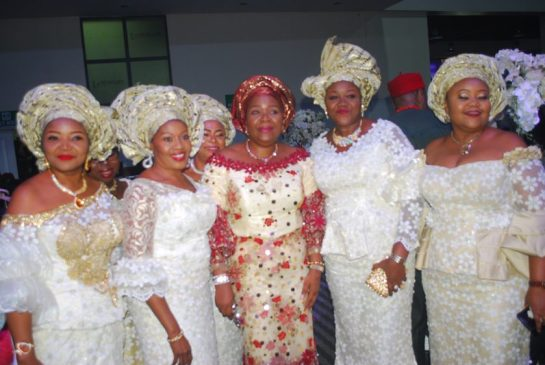 Nkechi Obi (middle) with her friends