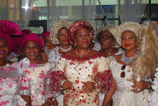 Nkechi Obi mother of the day dancing into the reception