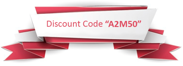Discount Code A2M50