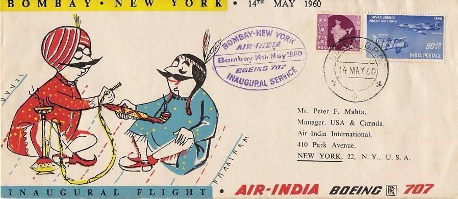 air india post card