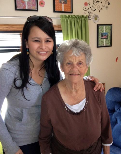 Me and Great Grandma Helen