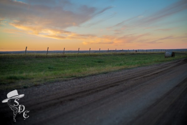 sunset, south dakota sunset, south dakota cowgirl photography