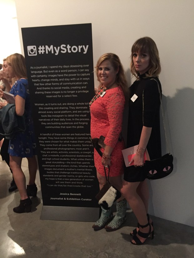 Saskia and I again, in front of another #MyStory Board
