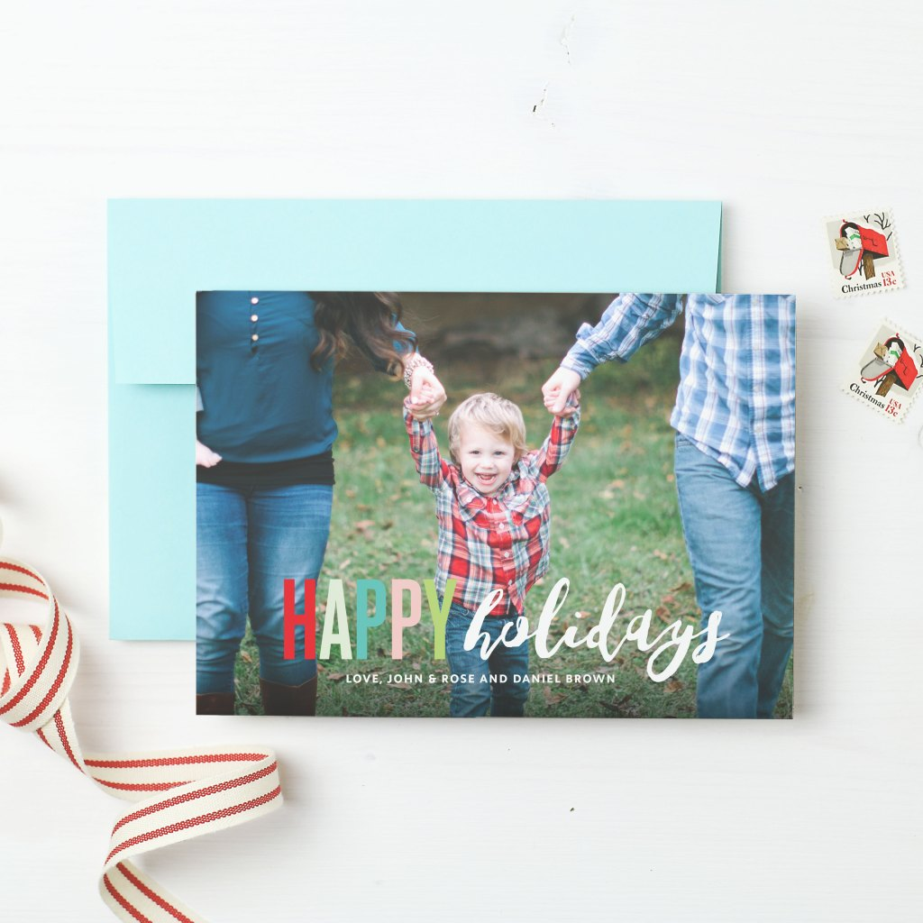 Basic Invite Christmas Card, Christmas Card, Card, custom card