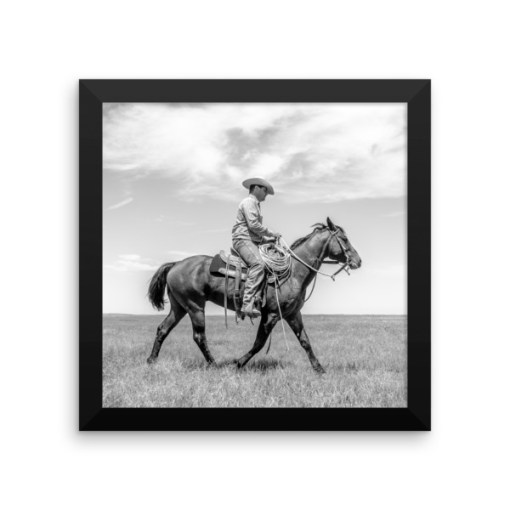 """Trot On, Cowboy"", Framed — photo paper poster"