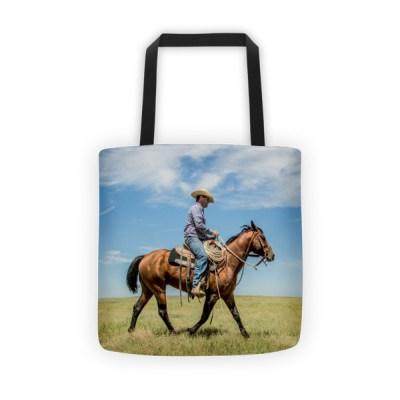 """Trot on, Cowboy"", Tote bag"