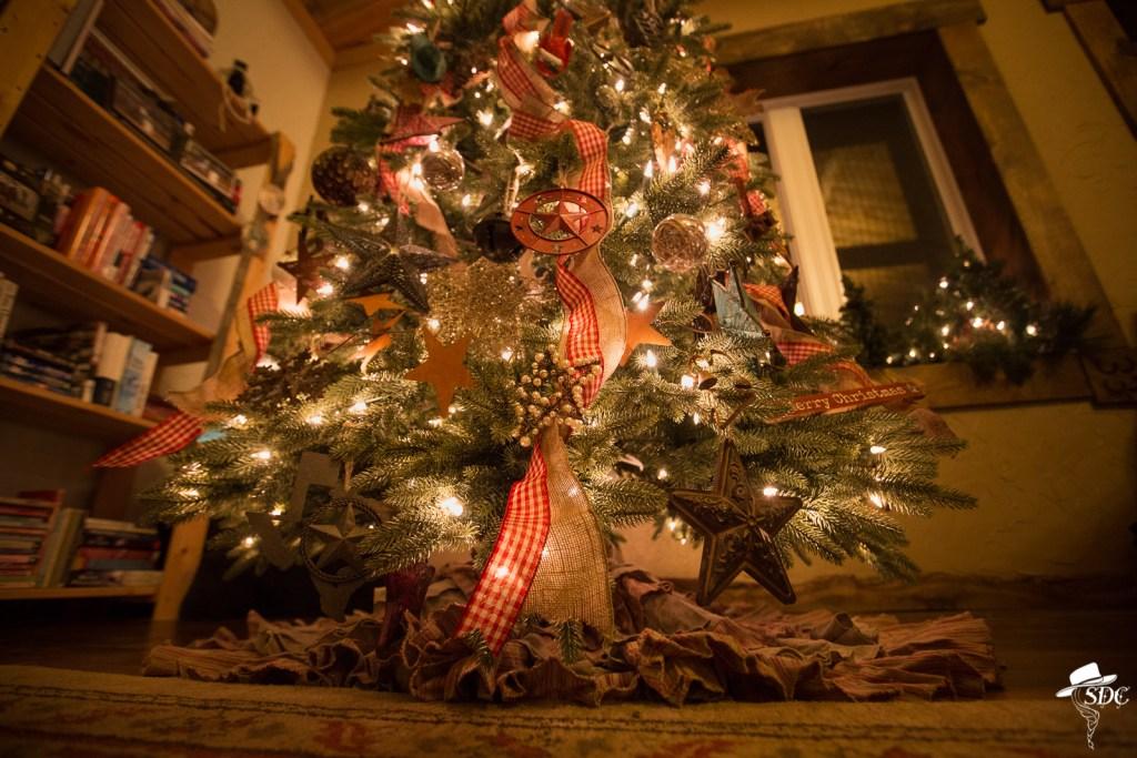 christmas on the ranch, cowboy christmas tree, christmas tree, western christmas tree