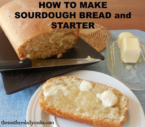 Sourdough starter and bread recipe