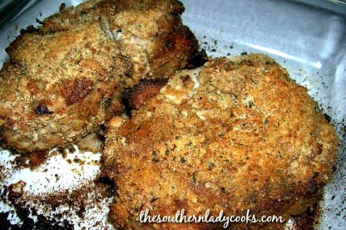 Oven Baked Pork Chops -The Southern Lady Cooks