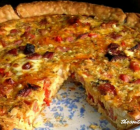 HAM, CHEESE AND TOMATO QUICHE