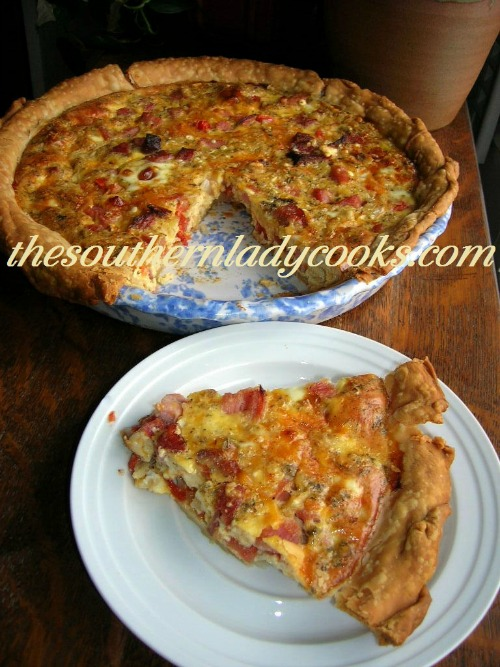 Ham, Cheese and Tomato Quiche The Southern Lady Cooks