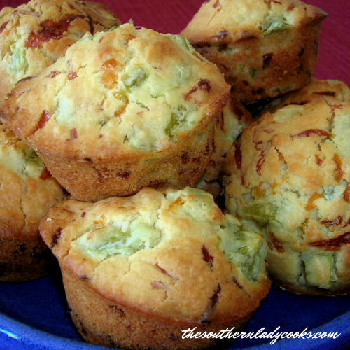 Green Tomato Muffins with Cheese - The Southern Lady Cooks