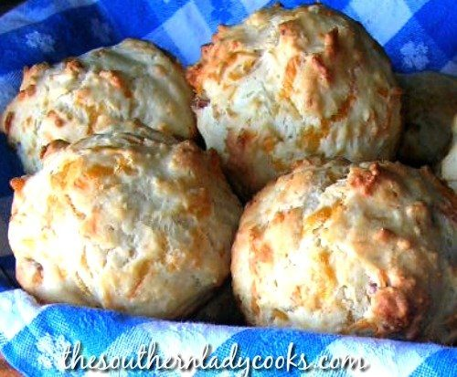 Bacon and Cheddar Cheese Muffins-The Southern Lady Cooks