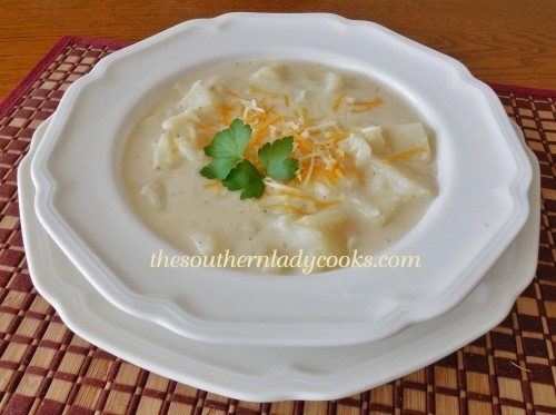 Hearty Potato Soup -The Southern Lady Cooks