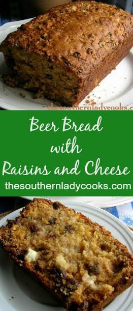 Beer Bread with Raisins and Cheese