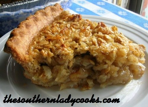 Oatmeal Pie-The Southern Lady Cooks