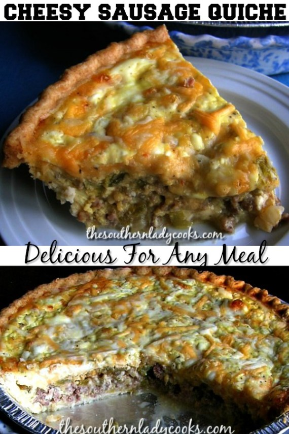 Cheesy Sausage Quiche - The Southern Lady Cooks