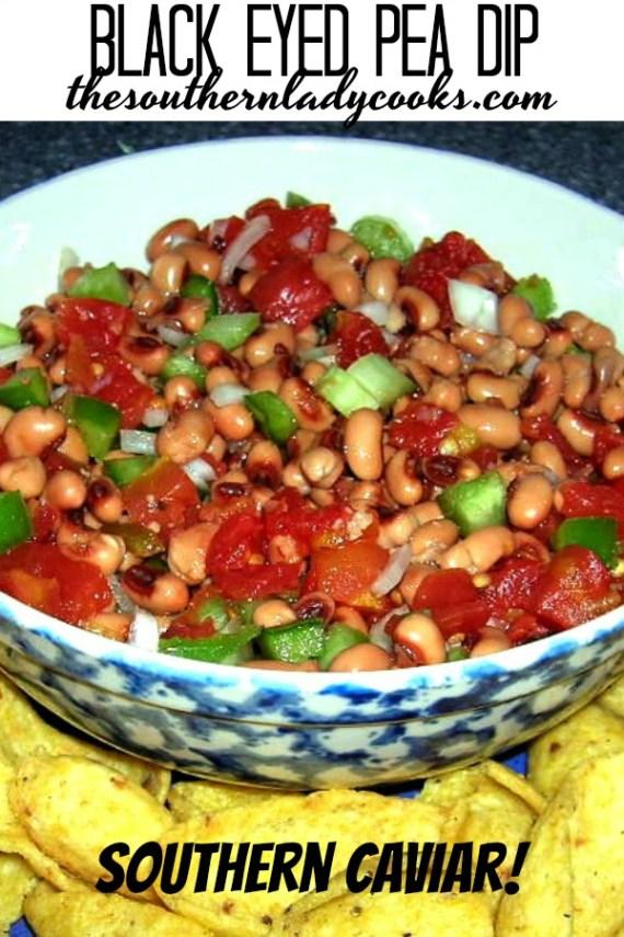 Southern Caviar or Black Eyed Pea Dip