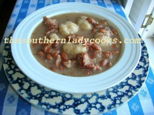 Pinto Beans and dumplings