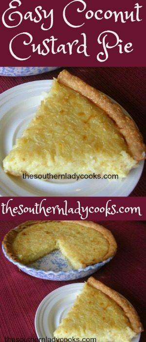 Easy Coconut Custard Pie