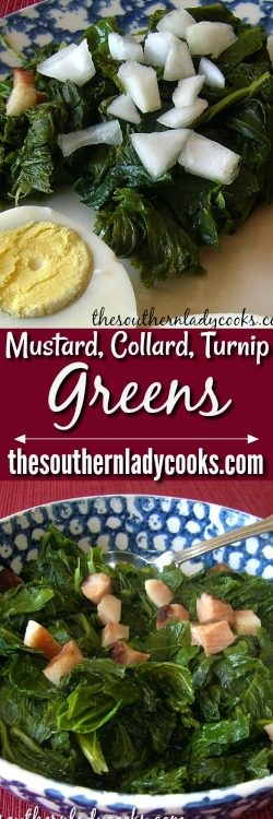 Fresh Mustard And Turnip Greens The Southern Lady Cooks