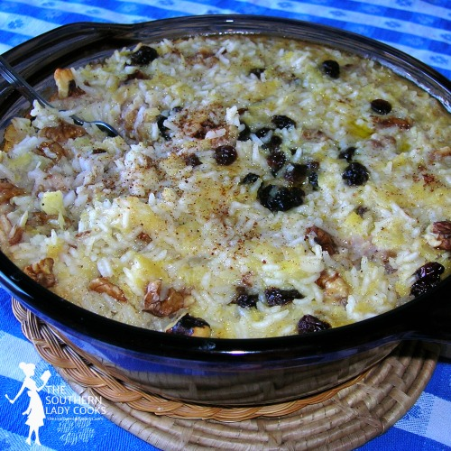 Creamy Pineapple Rice Pudding