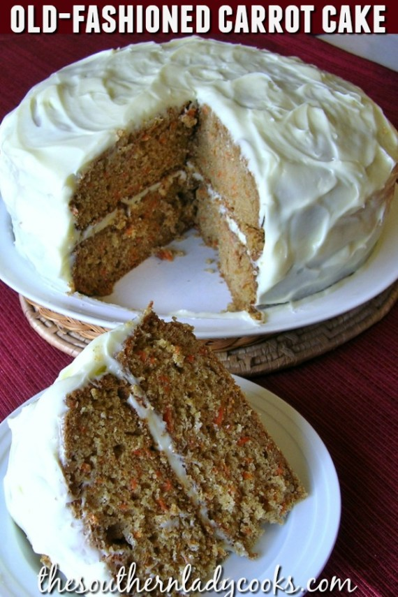 Old Fashioned Carrot Cake - The Southern Lady Cooks