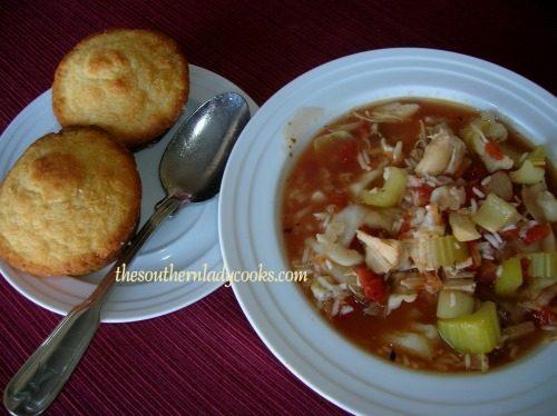 Crockpot turkey rice soup