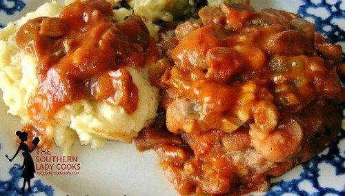 Sweet & Sour Hamburger Steak and Gravy