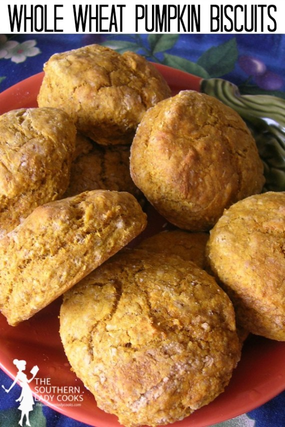 Whole Wheat Pumpkin Biscuits