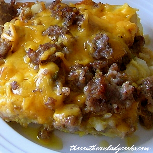 Hash Brown and Sausage Casserole - The Southern Lady Cooks