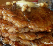 APPLE PANCAKES WITH APPLE SYRUP