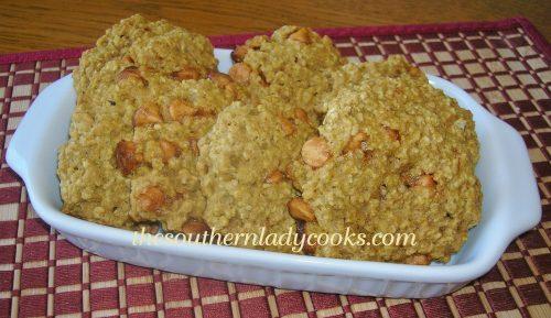Pumpkin Oatmeal Butterscotch Cookies