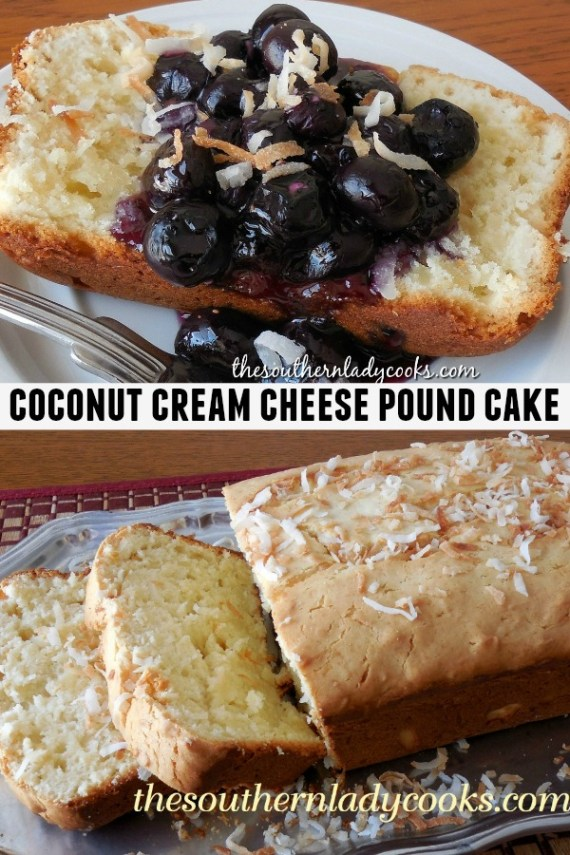 Coconut Cream Cheese Pound Cake The Southern Lady Cooks