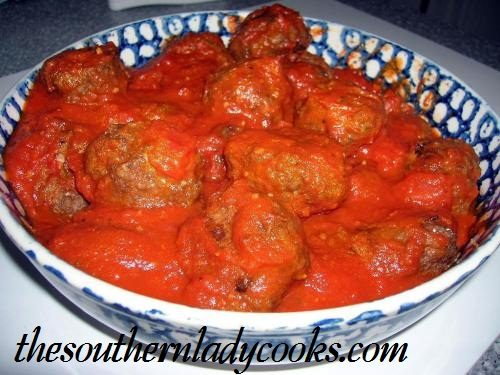 Baked Meatballs - The Southern Lady Cooks
