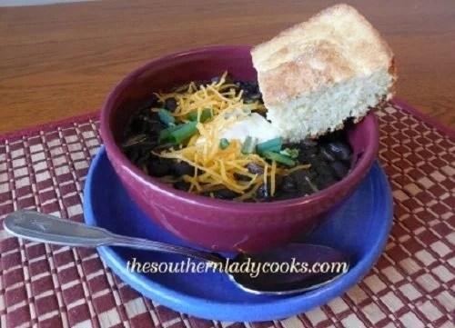 Crock Pot Black Bean Soup -TSLC