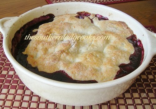 Fresh Apple Peach and Blueberry Cobbler TSLC