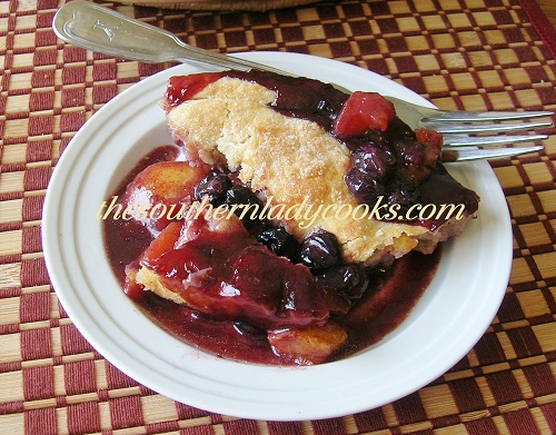 Fresh Apple Peach and Blueberry Cobbler - TSLC