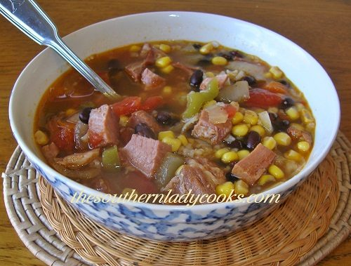 Ham and Black Bean Soup - TSLC