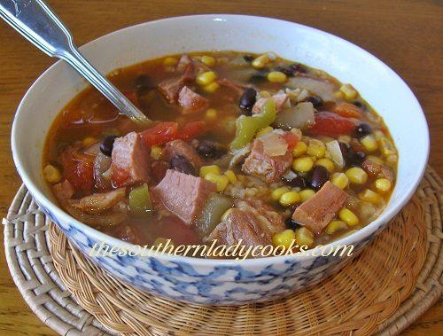 Ham and Black Bean Soup - TSLC