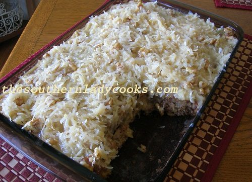 Pineapple Banana Cake with Coconut Frosting TSLC