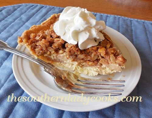 Apple Pie with Peanut Butter Crumble - TSLC
