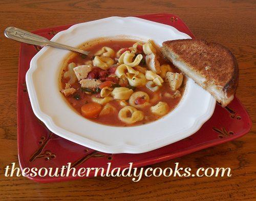 Chicken Tortellini Soup - TSLC