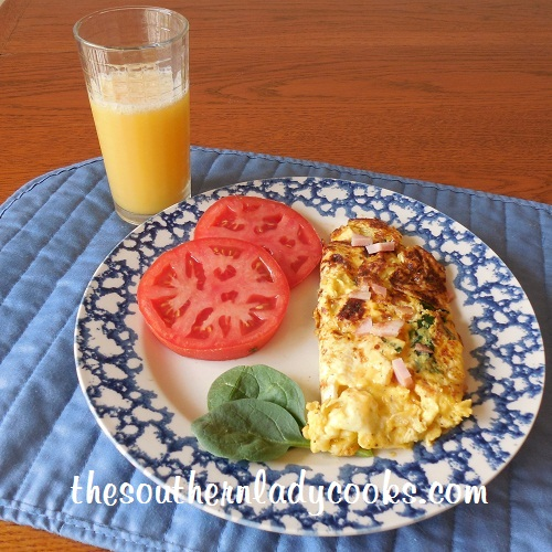 Ham, Cheese and Spinach Omelet - TSLC
