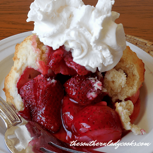 Strawberry Cobbler - The Southern Lady Cooks