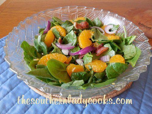 Bacon and Mandarin Orange Spinach Salad TSLC